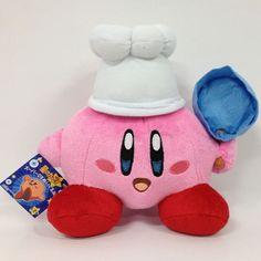 "Kirby Super Star Chef Kirby Plush Soft Toy Stuffed Animal Doll Cooking Figure 8"" | eBay"