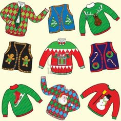 UGLY Christmas Sweaters Party Invitation Royalty Free Cliparts in ugly  christmas sweater party clipart collection - ClipartXtras 9bae884a31e4