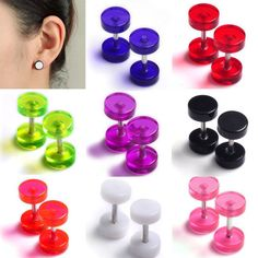 4)Quantity:16pairs=32pcs. 1)Type: Ear expender plugs piercing Body jewelry lots. 2)Material: acrylic stainless steel. 100% Brand New and High Quality. 3)Size:Shaft dia*Length:1*6mm round dia*total length:6*10-11mm.