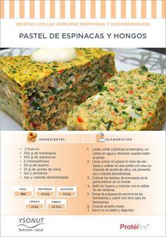Recetas de Dieta   Pastel de Espinacas y Hongos