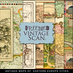 New Freebies Kit of Antique Maps of Сities in Eastern Europe:Far Far Hill - Free…