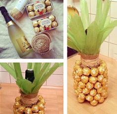 Great way to give Wine and chocolate! :)