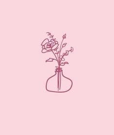 Line drawing of flowers in a vase by artist Kirsten Jenna Haviland. Flower Line Drawings, Flower Vases, Flowers, Mixed Media Art, Illustration, Artist, Instagram, Artists, Vase