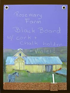 Hand painted Rosemary Farms Chalkboard by Bethlc, via Flickr
