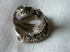 Sterling silver wire twist rings by justynajewelry on Etsy