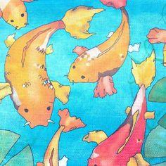 #Sewing with my lovely #koi #carp #fabric today... Ceridwen Hazelchild Design