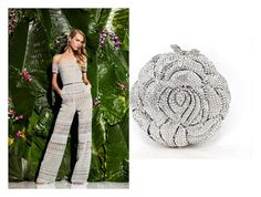 """""""Monte Carlo Lady, Rose, Crystal Clutch Bag"""" by acanthaluxury on Polyvore"""