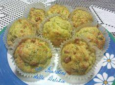 Muffin con broccoli e formaggio