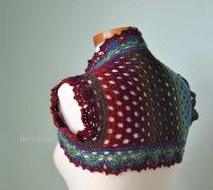 INSTANT DOWNLOAD RAINBOW Crochet shrug by BernioliesDesigns