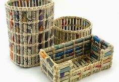 Make Large Recycling Bins Out Of Recycled Papers