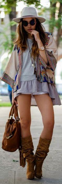 Oasap Multi Tribe Woven Kimono