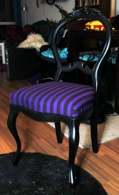 I LOVE the color of these stripes on this chair!!!