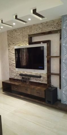 Wall Unit Designs, Living Room Tv Unit Designs, Ceiling Design Living Room, Wall Design, Design Design, Tv Unit Decor, Tv Wall Decor, Tv Wand Design, Tv Unit Furniture Design