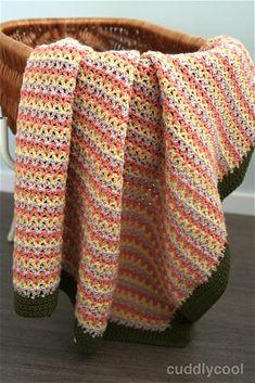Tough V-Stitch Babydecke häkeln frei Muster Modern Crochet Blanket, Baby Blanket Crochet, Crochet Baby, Free Crochet, Knit Crochet, Crochet Blankets, Crochet Keychain Pattern, Crochet Patterns Amigurumi, Crochet Blanket Patterns