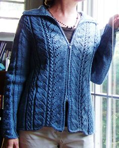 Free Knitting Pattern - Women's Cardigans: Eileen Cardigan