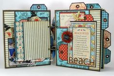 Just one of the pages of Ginny's brilliant By the Sea mini album. Click to see more #graphic45