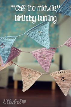 This is a truly adorable little bunting tutorial / pattern found over at Ellebel. Love it. Click for more pics and info through the link.