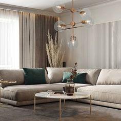 Home Design Living Room, Interior Design Living Room, Modern Living Room Decor, Modern Contemporary Living Room, Modern Rugs, Apartment Interior, House Rooms, Behance, Home Decor