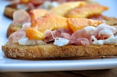 tuesday tastings, peach prosciutto ricotta crostini, appetizers, recipe, #camillestyles