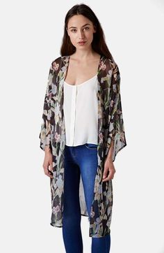 Topshop Iris Print Kimono Jacket is on sale now for - 25 % !