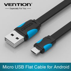 VENTION Mobile Phone Cable Flat Micro USB Cable 2.0 Data Sync Charger Cable For Samsung galaxy i9300 i9500 S4 S3 HTC #Affiliate