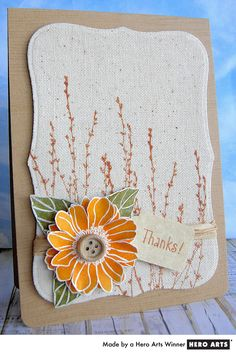 HA's Earth Flowers stamped on canvas make a great all occasion greetings card.