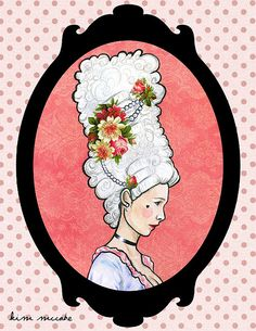 Marie Antoinette Illustration