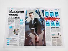 Yrittäjäsanomat newspaper redesign