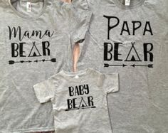 Mama Bear Papa Bear Baby Bear Brother by CloudNineandCompany