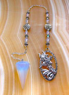 Opalite Fairy Pendulum by StarshineBeads on Etsy