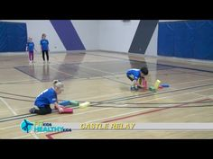 Castle Relay Can be adapted to better suit toddlers to older children. Works on kicking and transport skills.