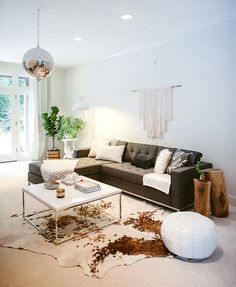 Gus* Modern | Our Jane-Bisectional looks so great in this fun (disco ball!) and bright space. Jane Bi-Sectional - http://gusmodern.com/collections/sectionals/products/jane-bi-sectional | Photo by: Yazy Jo photography