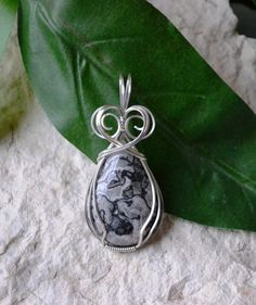 Silver Lace Agate Silver Wire Wrapped Pendant by SISDesigns, $43.00