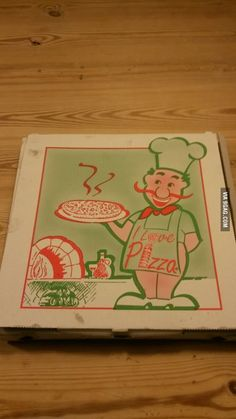 I just ordered pizza and realized that the guy on the box doesn't wear any pants