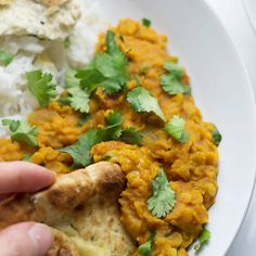 This red lentil dal is perfect when youre craving that curry flavour but you want something quick and healthy.Serve with yoghurt and mango chutney. Curry Recipes, Veggie Recipes, Indian Food Recipes, Vegetarian Recipes, Cooking Recipes, Healthy Recipes, Veggie Food, Savoury Recipes, Turkish Recipes