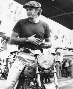 Steve Mcqueen  When you exude cool even a basic black t shirt and khakis look great