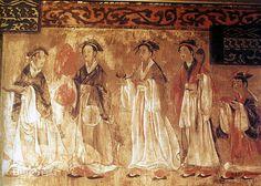 Mural of the Dahuting Tomb (Chinese: 打虎亭汉墓, Pinyin: Dahuting Han mu) of the late Eastern Han Dynasty (25-220 AD), located in Zhengzhou, Henan province, China
