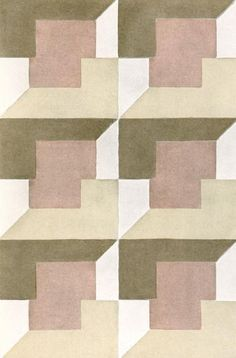 Textile design by Elise Djo-Bourgeois, produced in 1928.