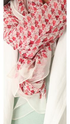 Tory Burch Flamingo Chiffon Scarf - want want want so bad