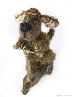 мишки тедди и их друзья. собака на самокате 12 см. Мохер – купить в интернет-магазине на Ярмарке Мастеров с доставкой