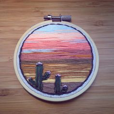 Cactus Sunset by RiverBirchThreads on Etsy https://www.etsy.com/listing/509248188/cactus-sunset