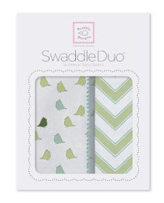 SwaddleDesigns Swaddle Duo Chevron, Kiwi by SwaddleDesigns. $38.00. Exclusively includes the 123 Swaddle label easy to follow pictorial swaddling instructions sewn to the edge of each blanket. Two premium, yet different, baby soft, lightweight, breathable cotton swaddling blankets, so mom and dad will be prepared for changes in the temperature. Ultimate receiving blanket 100% lightweight, premium, preshrunk, breathable cotton flannel for moderate to cooler environments; M...