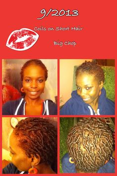 Comb coils on short hair