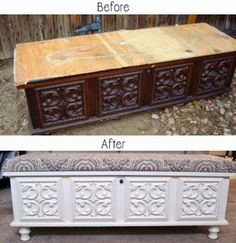 """Need inspiration on what to do with a dresser? Bunk bed? Coffee table? Hutch? Sideboard? You name it, there is probably a before and after of the piece you are looking for with links to step by step tutorials on how to make your """"trash"""" into """"treasure""""."""