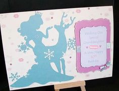 Frozen inspired handmade card from www.Facebook.com/thehandmadestudio. Any personalisation and other colours available. #handmade #frozen #card