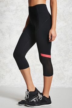 Product Name:Active Striped Capri Leggings, Category:CLEARANCE_ZERO, Price:19.9