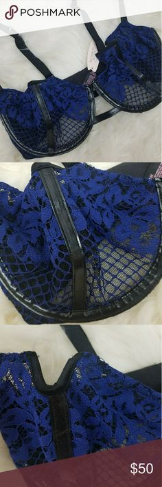 NWT VS Bra Sexy Victoria secret Bra With Lace and Pleather lining. Underwire for extra support. 32DF  Let's Keep in touch!<3 IG: Gypsy_Road Twitter: Gypsy_RoadBTQ Facebook: @GypsyRoadBTQ  any questions or concerns Please email us at  Gypsyroadbtq@gmail.com Victoria's Secret Intimates & Sleepwear