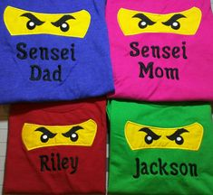 Ninjago Birthday Shirt Choose your color by Broider on Etsy