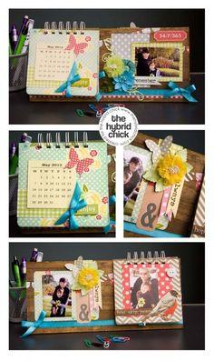 fantastic DIY desktop calendar! crafty-things-i-adore