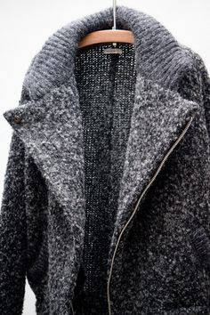 Isabel Marant heavy sweater coat. This looks like a sweater fit for a Vermont winter!